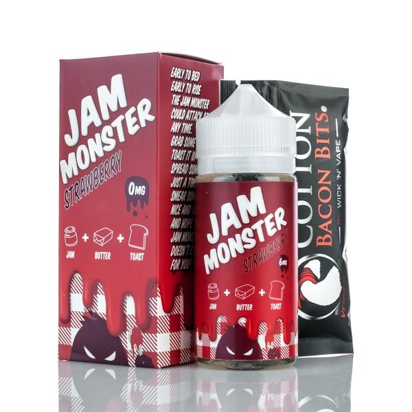 jam monster strawberry e-juice 100ml