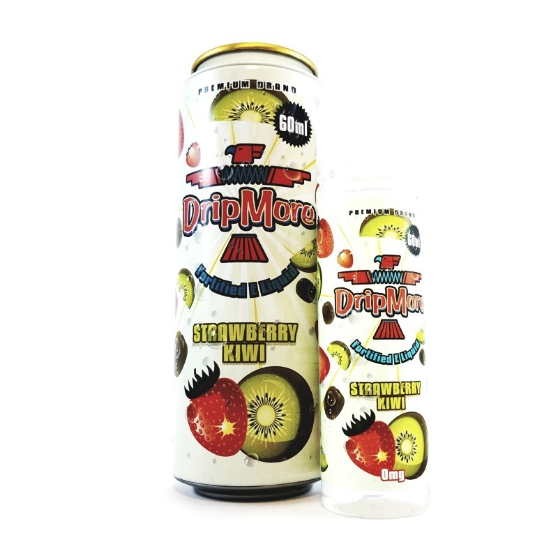 Strawberry Kiwi - Ice Tea E-Liquids by Drip More (60mL)